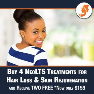 Buy 4 NEOLTS Treatments for Hair Loss and Skin rejuvenation and receive two free! now only $159!