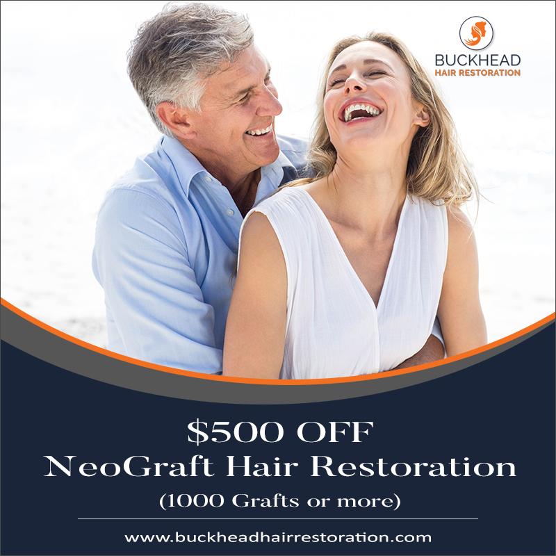 $500 OFF NeoGraft Hair Restoration