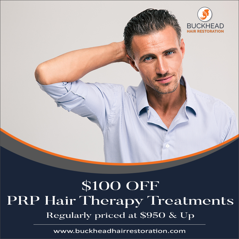 $100 Off PRP Hair Therapy Treatments