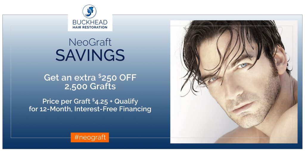 Hair Restoration Savings for Neograft and PRP Therapy at Buckhead Hair Restoration are simply amazing. #hairconfidence #grownewhair #welovehair Dr. Slater and team want to help men and women suffering from hair loss. Visit Buckheadhairrestoration.com to experience 5 Star Service with our team in Atlanta. You can also visit slatermd.com for more information on all services provided at our Aesthetic Clinic.